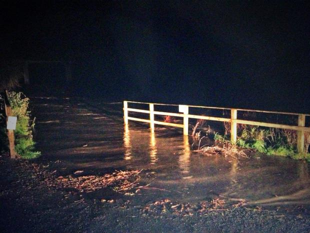 Flood warnings on River Wye in Herefordshire